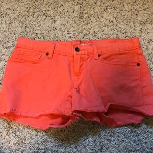 Lucky Brand coral denim short Size 8/29